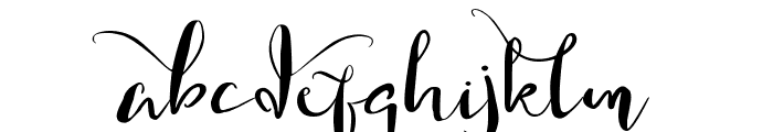 Gorgeously You Font LOWERCASE