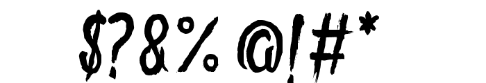 GoryMadnessVariant Font OTHER CHARS