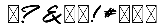 Gosira Brush Font OTHER CHARS