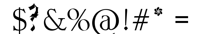 Gothferatu Font OTHER CHARS