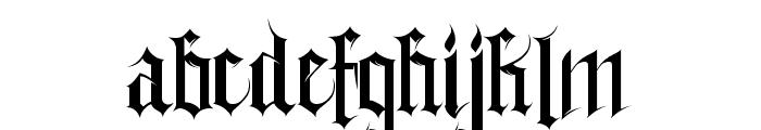 Gothferatu Font LOWERCASE
