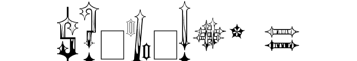 Gothic Flames Font OTHER CHARS