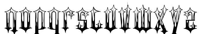 Gothic Flames Font LOWERCASE