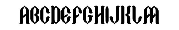 Gothycal Font UPPERCASE