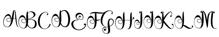 GracelyaScript Font UPPERCASE