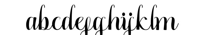 GracelyaScript Font LOWERCASE
