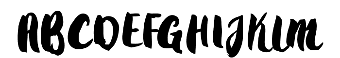 Gradies Font UPPERCASE