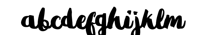 Gradies Font LOWERCASE