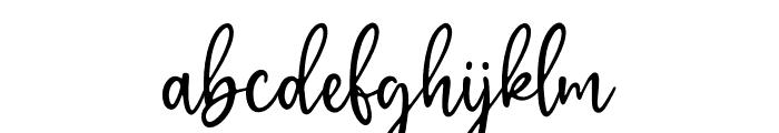 GratefullyScriptRegular Font LOWERCASE