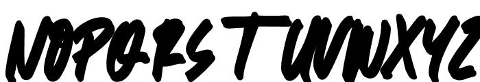 Great Authorized Slant Extrude Font UPPERCASE
