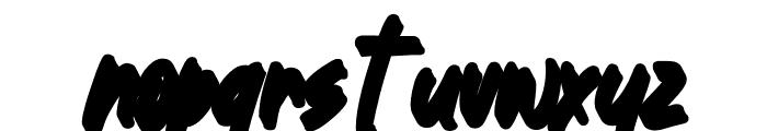 Great Authorized Slant Extrude Font LOWERCASE