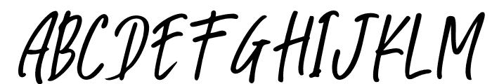 Great Authorized Slant Italic Font UPPERCASE