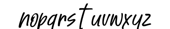 Great Authorized Slant Italic Font LOWERCASE