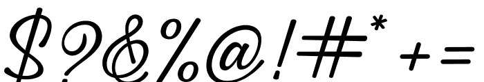 Great Feeling Script Font OTHER CHARS