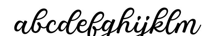 Great Feeling Script Font LOWERCASE