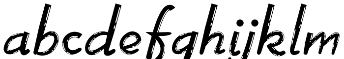 Great Food Font LOWERCASE
