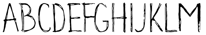 Groundhog Font UPPERCASE