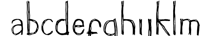 Groundhog Font LOWERCASE