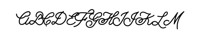 Growler Script Font UPPERCASE