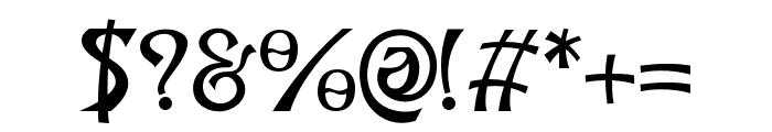 Grunge Decade Regular Font OTHER CHARS