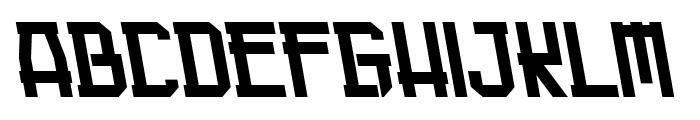 Guardian Warrior Back Italic Font UPPERCASE