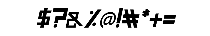 Guardian Warrior Italic Font OTHER CHARS