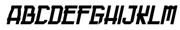Guardian Warrior Italic Font UPPERCASE