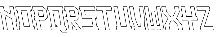 Guardian Warrior Light Back Italic Font UPPERCASE