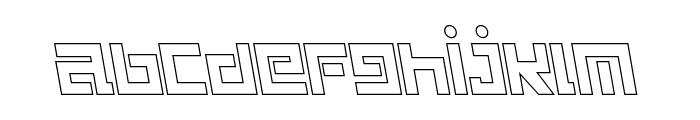 Guardian Warrior Light Back Italic Font LOWERCASE
