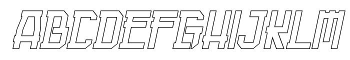Guardian Warrior Light Italic Font UPPERCASE