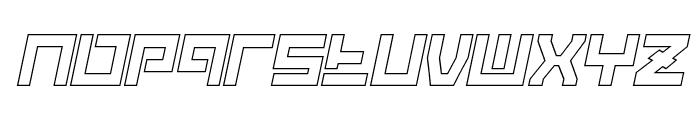 Guardian Warrior Light Italic Font LOWERCASE