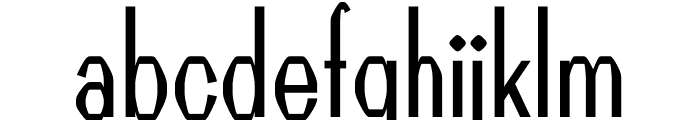 Guild regular Font LOWERCASE