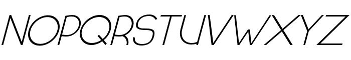 HALF MOON RISING ITALIC Font UPPERCASE