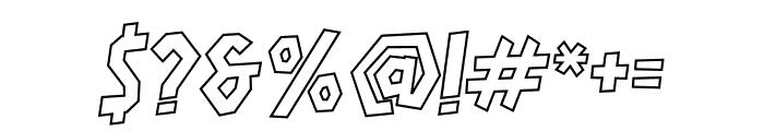 HARDLINERS Outline Font OTHER CHARS