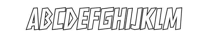 HARDLINERS Outline Font LOWERCASE