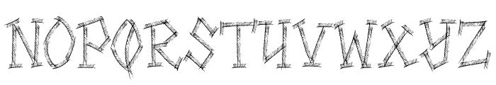 HIGHWAY SHREDDED Font UPPERCASE
