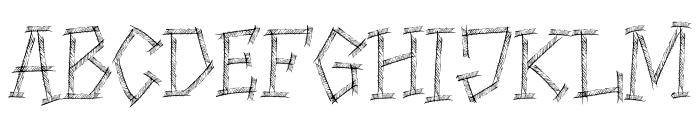 HIGHWAY SHREDDED Font LOWERCASE