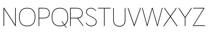 HU Wind Sans Cyrillic ExtLt Font UPPERCASE