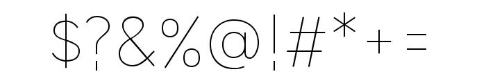 HU Wind Sans ExtraLight Font OTHER CHARS