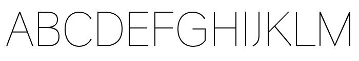 HU Wind Sans Greek ExtraLight Font UPPERCASE