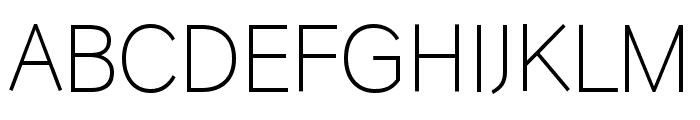 HU Wind Sans Light Font UPPERCASE