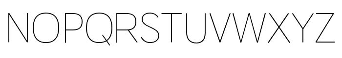 HUWindSans-ExtraLight Font UPPERCASE
