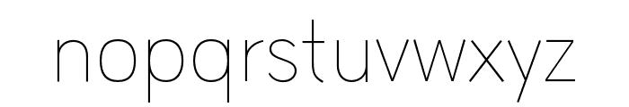 HUWindSans-ExtraLight Font LOWERCASE