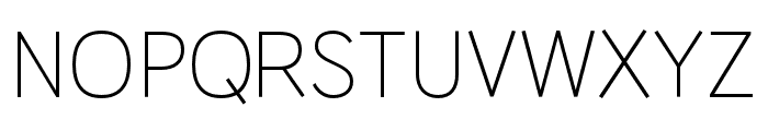 HUWindSans-Light Font UPPERCASE