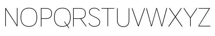 HUWindSansCyrillic-ExtraLight Font UPPERCASE