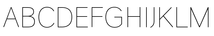 HUWindSansGreek-ExtraLight Font UPPERCASE