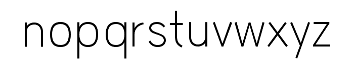 HUWindSansGreek-Light Font LOWERCASE