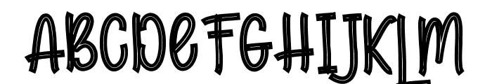 HaLimountOutline Font UPPERCASE