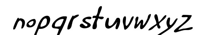 Haakke-Slanted Font LOWERCASE