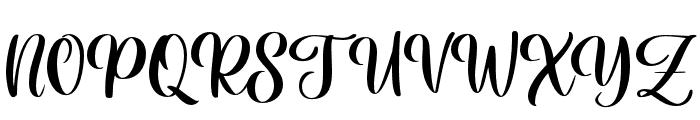 HaileyScript Font UPPERCASE